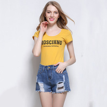 European style plus size S-3XL cotton slim women short jeans high quality fashion sexy ripped all match denim women shorts D276
