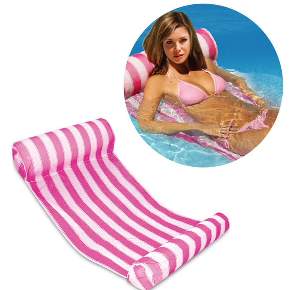 : 3 Color Stripe Outdoor Floating Sleeping Bed Water Hammock Lounger Chair Float Inflatable Air Mattress Swimming from www.zipy.co.il size 950 x 950 jpeg 200kB