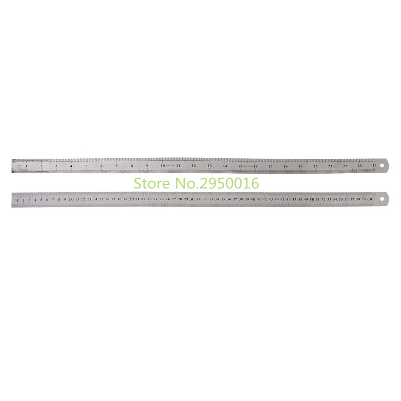 High Quality Stainless Steel Double Side Measuring Ruler Silver Straight Edge Ruler 60cm C26