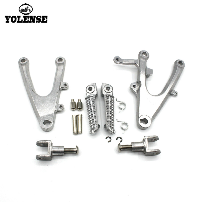 For YAMAHA YZF-R1 YZFR1 YZF R1 2004 2005 2006 Motorcycle Accessories Footrests Front Foot Pegs Pedals Rest Footpegs Bracket
