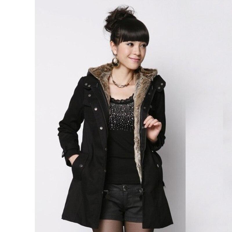 Women Fashion Parka Jacket Coat 2017 New Winter Long Section Thick Slim Jacket Coat Female Overcoat