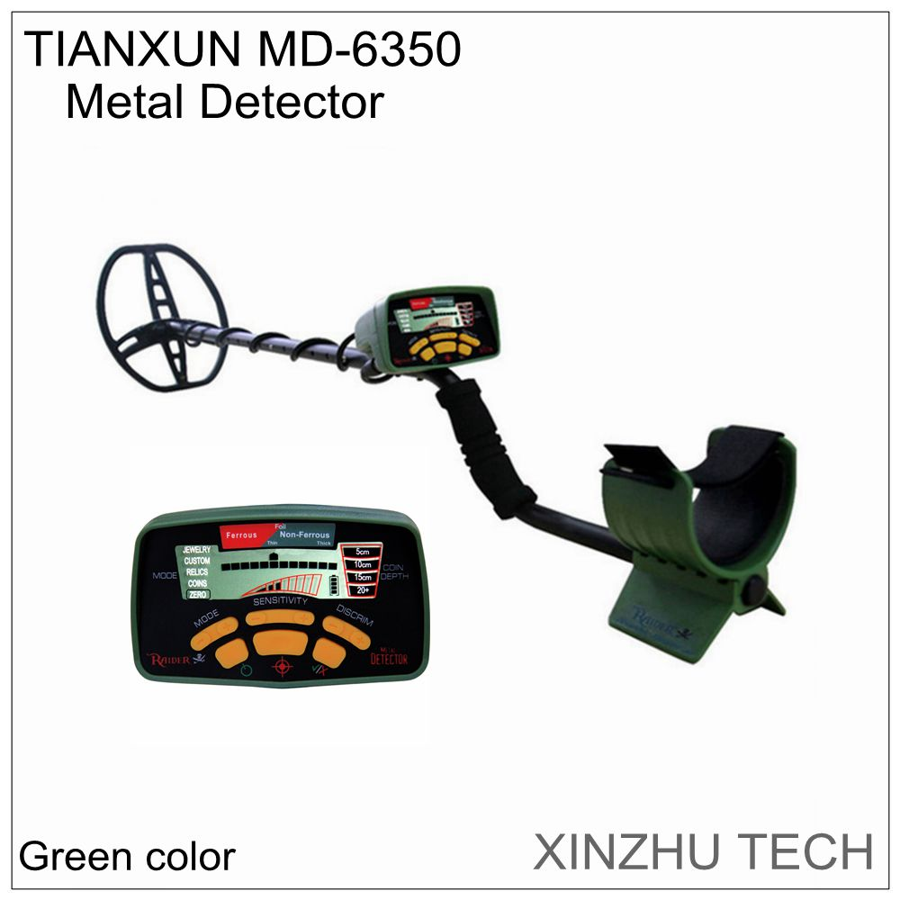 MD 6350 Metal Detector orignal green color professional underground gold detector MD6350 treasure Hunter