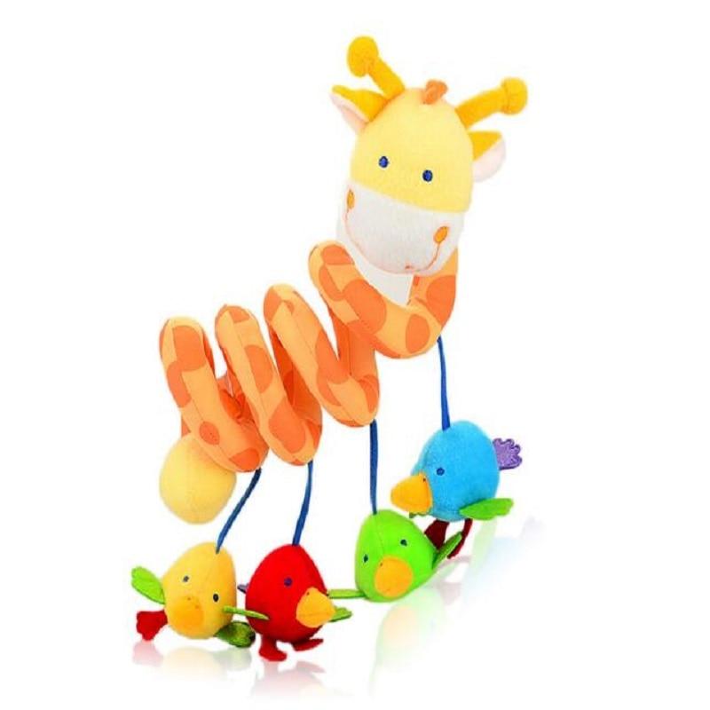 קטיפה בעלי חיים ג 'ירפה תינוק תינוק צעצוע צעצוע מוקדם חינוך בייבי צעצועים עריסה תולה תינוק רעשנים ג' ירפה תינוק העגלה צעצוע