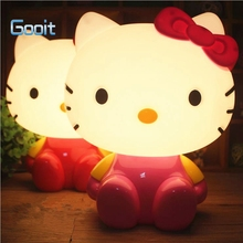 Cute Kitty Cat Cartoon Night Light Baby Room Kids Bed Lamp Sleeping Night Lamp Decoration Eyeshield Table Lamp