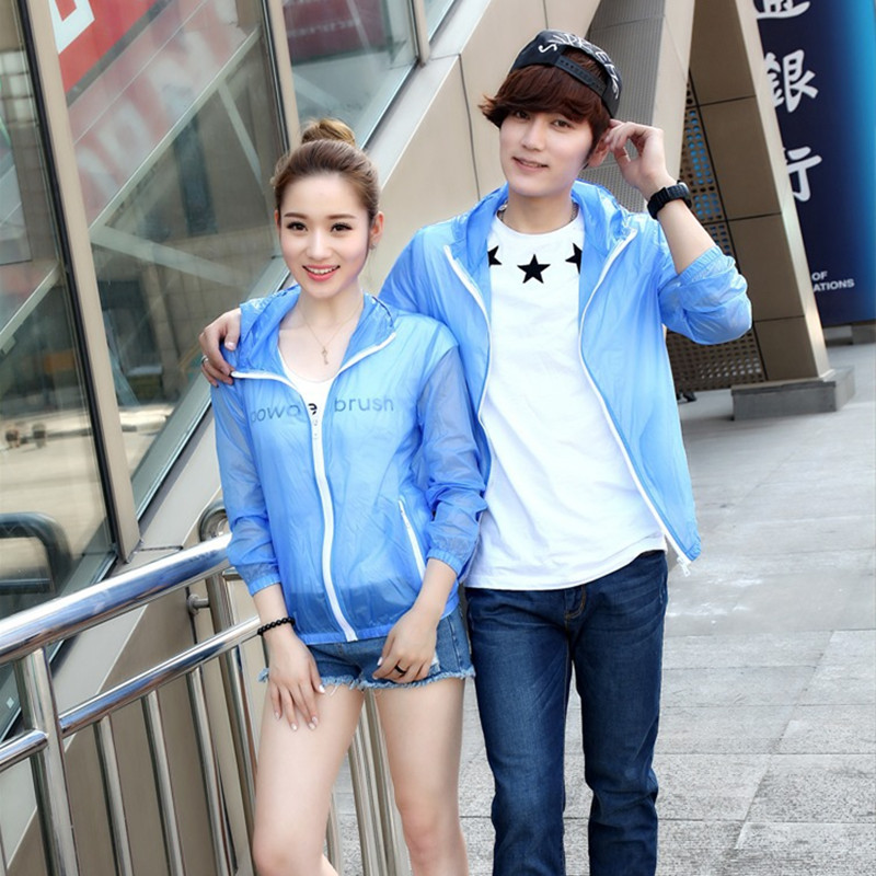 Summer Hollow Transparent Coat Patchwork Short Varsity Jacket Baseball jackets Zipper Stripes sun protection clothing