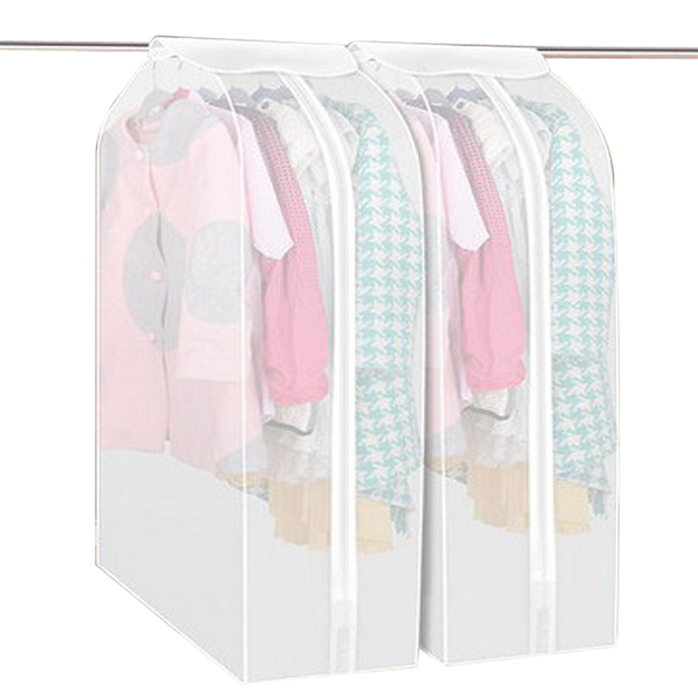 Transparent Storage Bags M/L Cover Clothes Protector Garment Suit Coat Dust Cover Protector Dustproof Storage Bag Organization