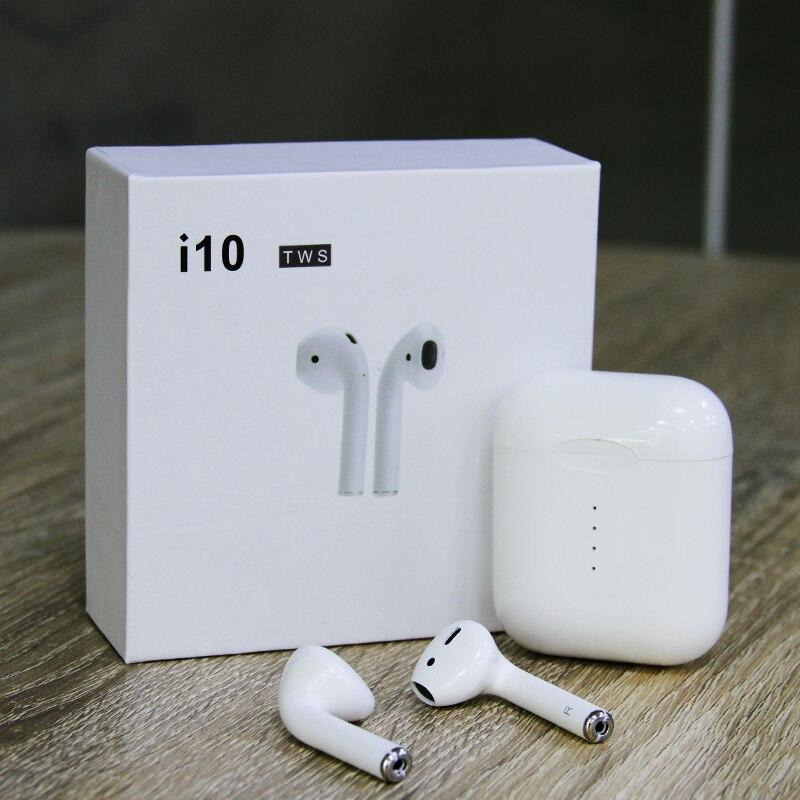 Mains libres Casque Mini Tws i10 Écouteurs bluetooth BT5.0 Vrai Sans Fil Intra-auriculaires dans l'oreille air pod casque pour apple xiomi smartphone