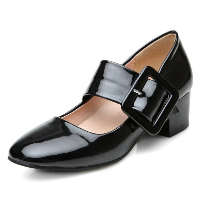 plus size 32 42 women mary jane shoes classics pumps for. Black Bedroom Furniture Sets. Home Design Ideas