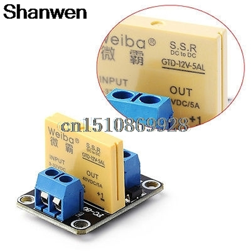 Relay Channel SSR Solid State Relay High-low Trigger 5A 12V For Arduino UNO R3 New 5v 2 channel ir relay shield expansion board for arduino