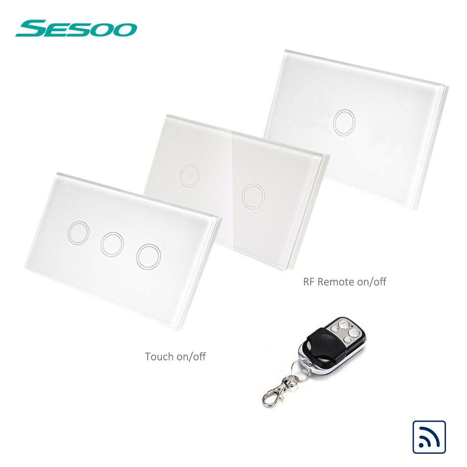 US Standard SESOO Fernbedienung Schalter 1/2/3 Gang 1 Way, RF433 ...