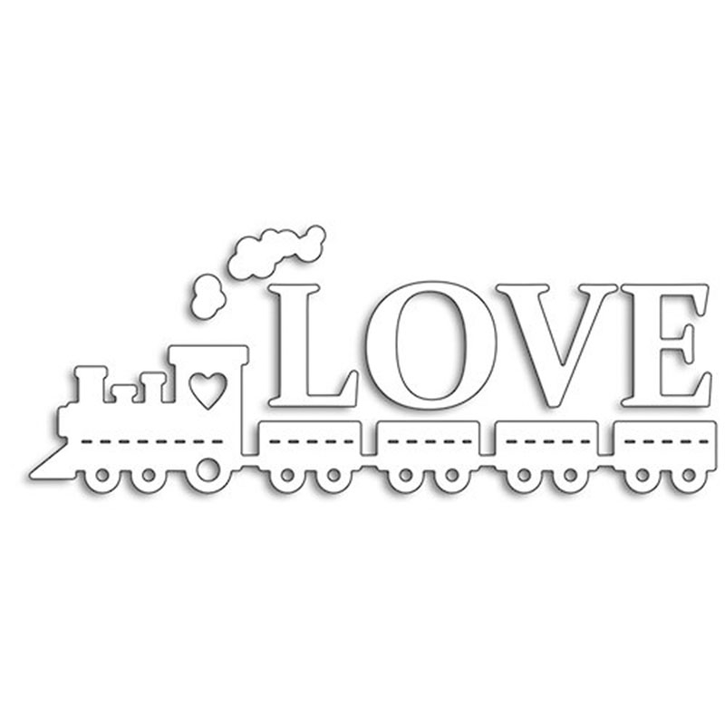 LOVE Words Metal Cutting Dies Stencils for Scrapbooking Embossing Die Cards Making Paper Craft Decoration New 2019 in Cutting Dies from Home Garden