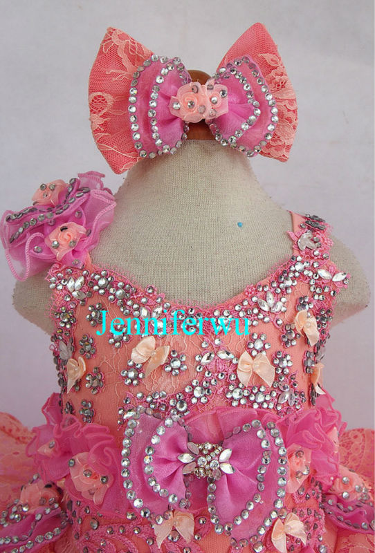 glitz baby girl pageant dress and formal clothes little girl  prom dresses G218E