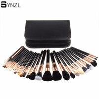 29 Pcs Makeup Brushes Professional Cosmetic Brush Set Foundation Powder Makeup Kits With Case Nature Bristle