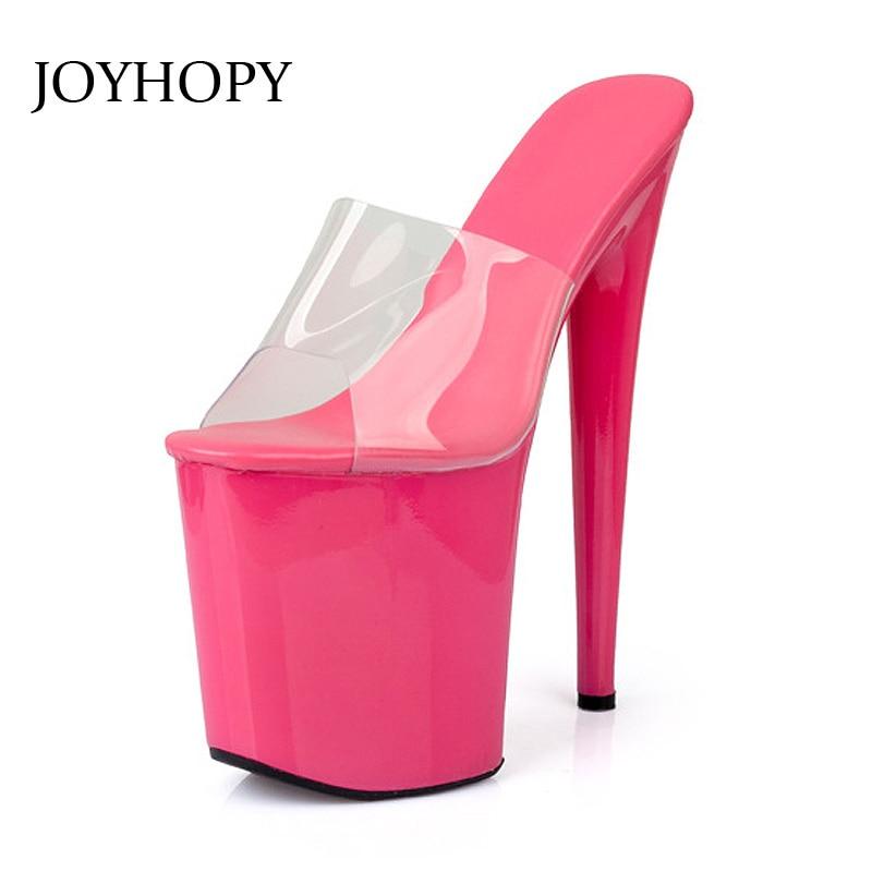 JOYHOPY 20cm Super High Heel Platform Women Sandals 2017 New Sexy Nightclub Party Woman High Heels