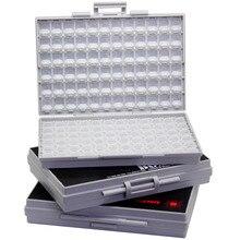 AideTek 3 пустые корпуса поверхностного монтажа резистор органайзер для конденсаторов 1206 0805 0603 пластиковая часть наклейки на коробку smd storage3BOXALL