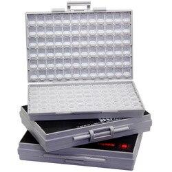 AideTek 3 Carcasas vacías soporte de superficie condensador organizador 1206 0805 0603 piezas de plástico caja etiquetas smd storage3BOXALL