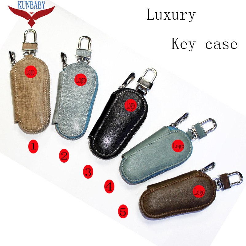 Interior Accessories Nice Kunbaby 10pcs/lot Model 21 Genunie Leather Car Key Case Cover Key Holder Key Wallet For Benz Audi Subaru Skoda Toyota Honda Ford Sufficient Supply Key Case For Car