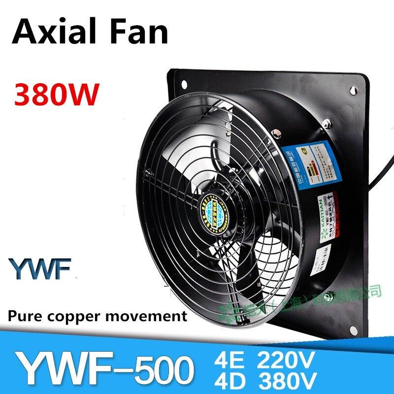 YWF4E-500 YWF4D-500 Praça Rotor Exterior Ventilador Axial Industrial Gabinete Ventilador de Refrigeração Ventilador 380/220 v