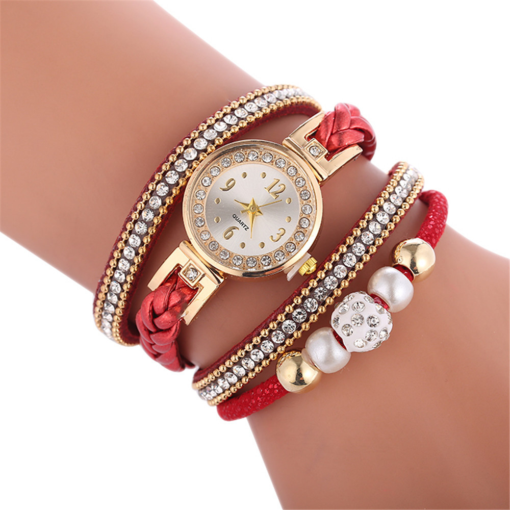 High Quality Beautiful Fashion Women Bracelet Watch Ladies Watch Casual Round Analog Quartz Wrist Bracelet Watch For Women Clock #3