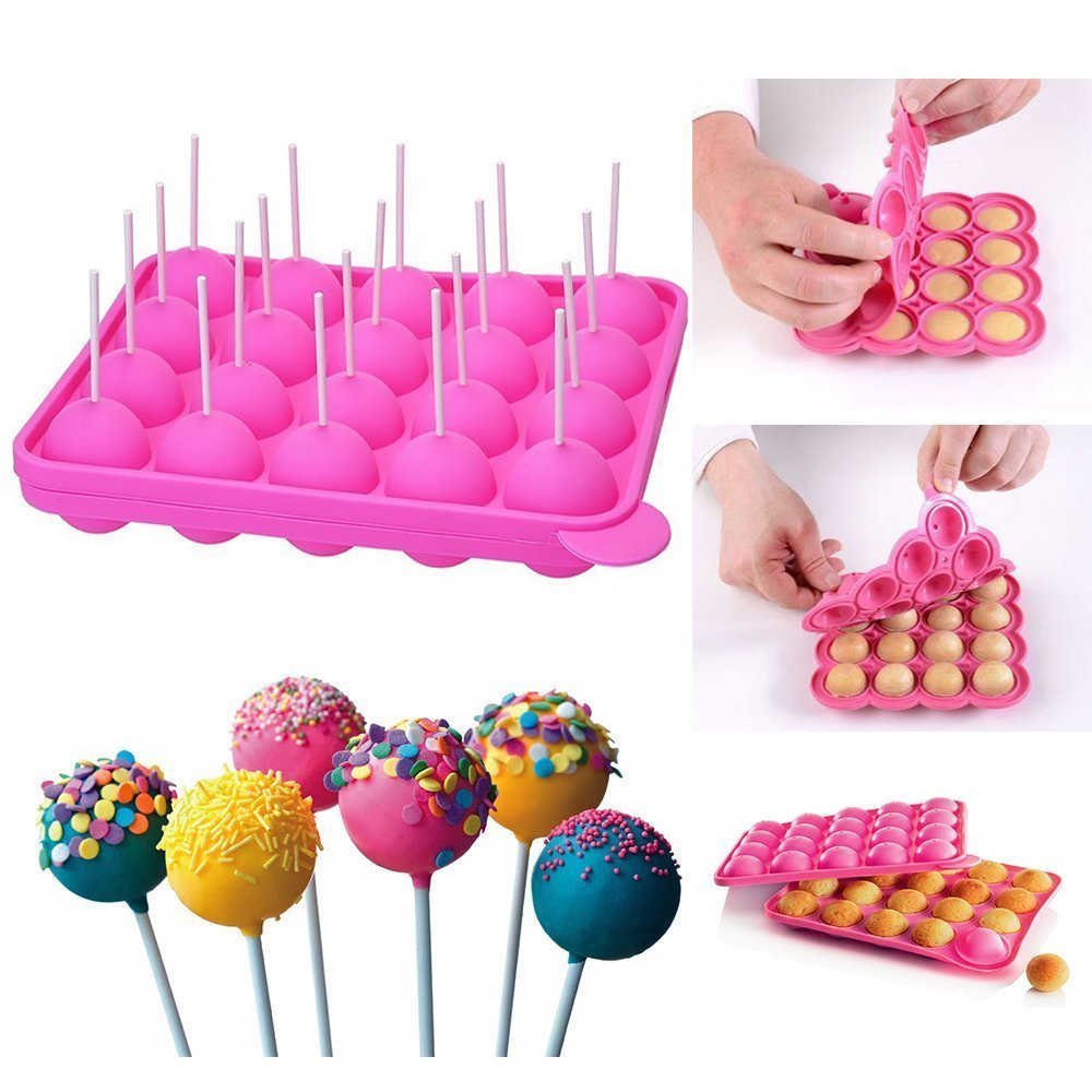 2019 Hot Sale Silicone Candy Mold Cupcake Lollipop Mold Pastry Baking Tools  Gadgets Mold Chocolate Dessert Cake Decoration Tools