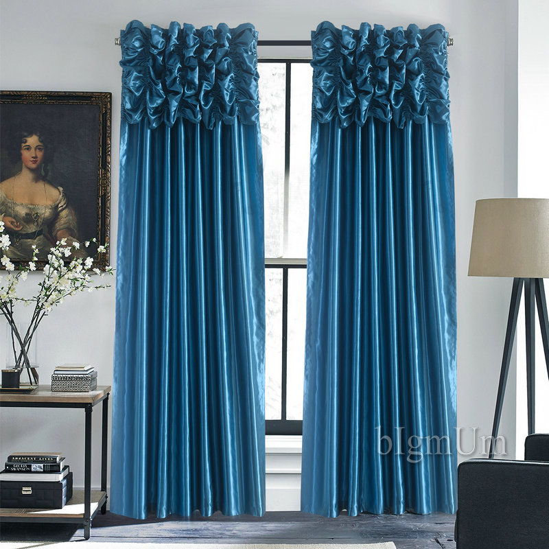 Luxury Curtains For Room Window Customized Ready Made Treatment Drapes Living Bedroom Solid Color Panel In From Home