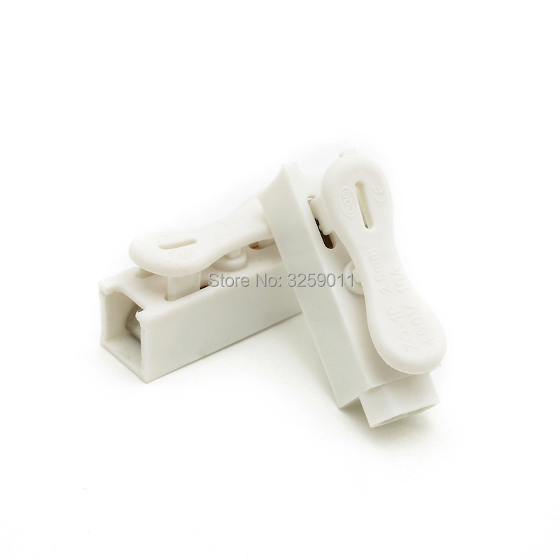 100pcs Spring Wire Connectors Electrical Cable Clamp Wiring Terminal Block Zq-1p Row Column Push Butt Led Lamps 1 Pin Non-Ironing