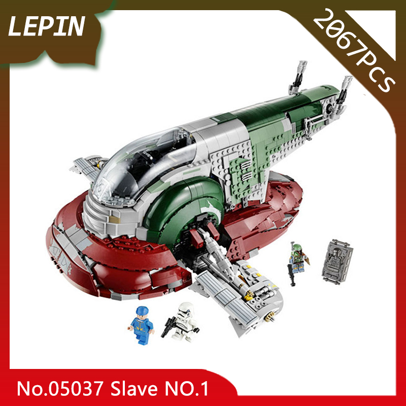 Lepin 05037 UCS Slave NO.1 Model Star Space Wars Series 2067pcs Building Blocks Bricks Toys Compatible 75060 Children Gifts lepin 05060 star series wars ucs naboo star type fighter aircraft model building blocks bricks compatible legoed 10026 toy gifts