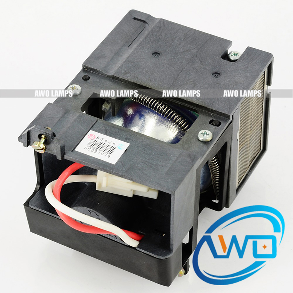 AWO Projector Lamp SP-LAMP-009 Compatible Module for INFOCUS X1/X1A Projectors High Quality awo high quality projector replacement lamp sp lamp 088 with housing for infocus in3138hd projector free shipping