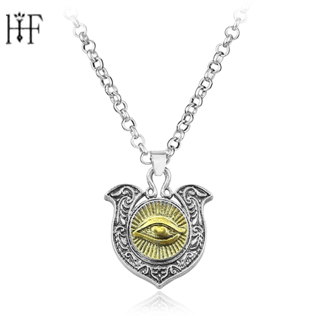 Hight quality The Eye of Horus necklace Maya culture characters jewelry  wholesale price Freeshipping Men Women Neckalce-in Pendant Necklaces from