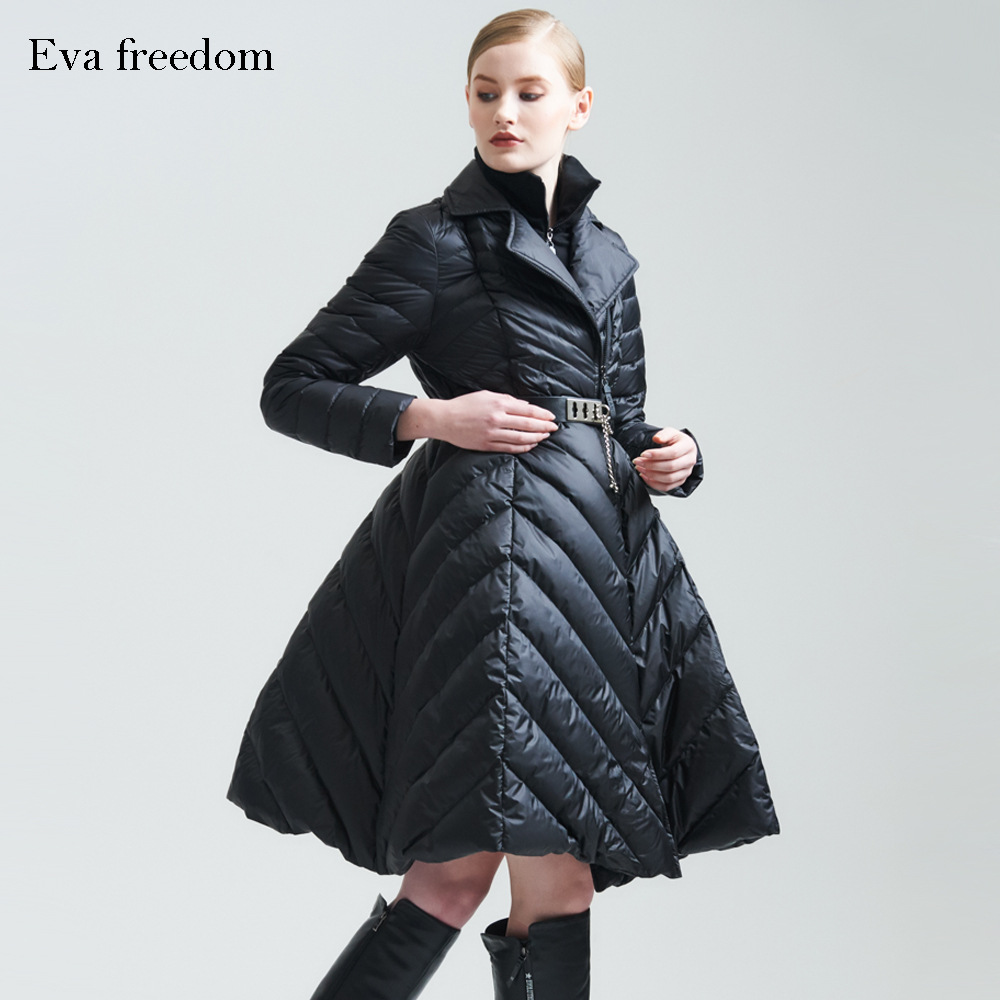New 2018 Winter Jacket Women   Down   Jackets 90% womens Duck   Down     Coat   Women's   Down   outerwear Parka   coats   long slim famous parkas