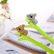10pcs/lot south Korea cute cartoon koala gel pen creative stationery fountain 0.5 mm black student animal