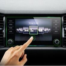 KEMiMOTO сталь 8 дюймов экран защитная пленка автомобиля gps навигация закаленное стекло экран протектор для Skoda Kodiaq Karoq 2017-18