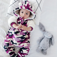 Camouflage Baby Rompers baby girl rompers fleece baby clothes baby onesie boy costume toddler girl winter clothes bear jumpsuit