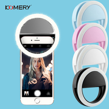 Selfie LED Ring Light Portable Mobile Phone Flash 40 LEDS Luminous Clip For iPhone 6 6S Plus 7 8 X Samsung S8 9