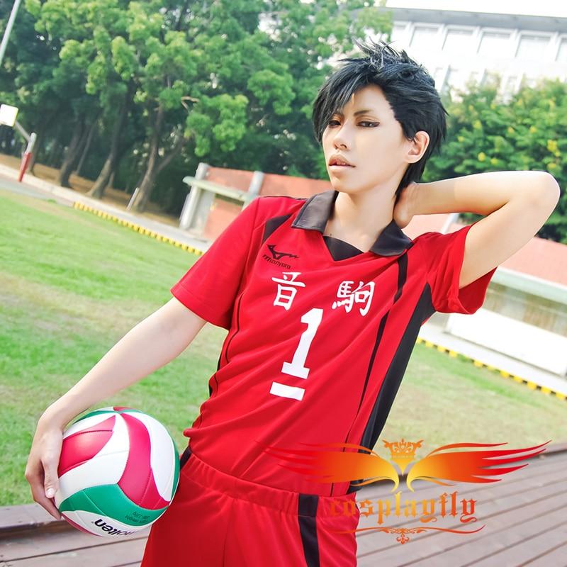 (Number can be changed) Anime Haikyu Nekoma High School Tetsurou Kuroo No 1 Cosplay Jersey Costume (W0511-1)