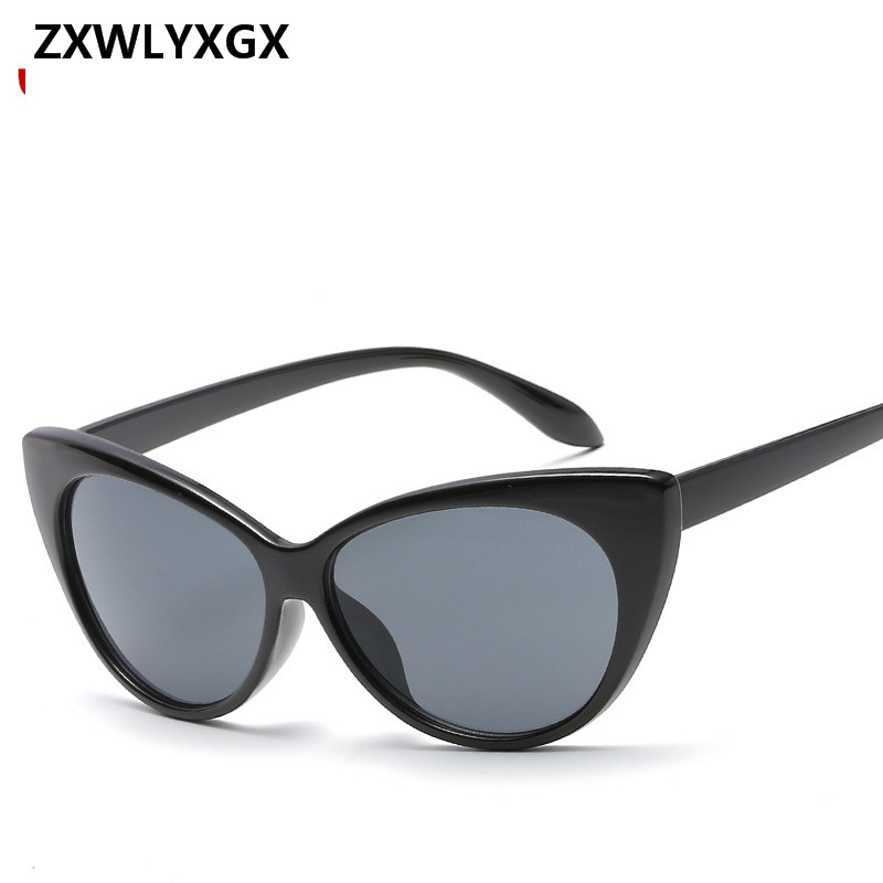 Fashion <font><b>Cat</b></font> <font><b>Eye</b></font> Black Frame <font><b>Sunglasses</b></font> <font><b>Women</b></font> <font><b>Brand</b></font> <font><b>Designer</b></font> Ladies dames <font><b>Sexy</b></font> Sun Glasses <font><b>Women</b></font> gafas sol Female Oculos De Sol image
