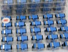 GONGFENG 500pcs NEW Hot Split Telecom Grade Connector SC/APC Optical Fiber Adapter Coupler Flange Special wholesale TO Russia