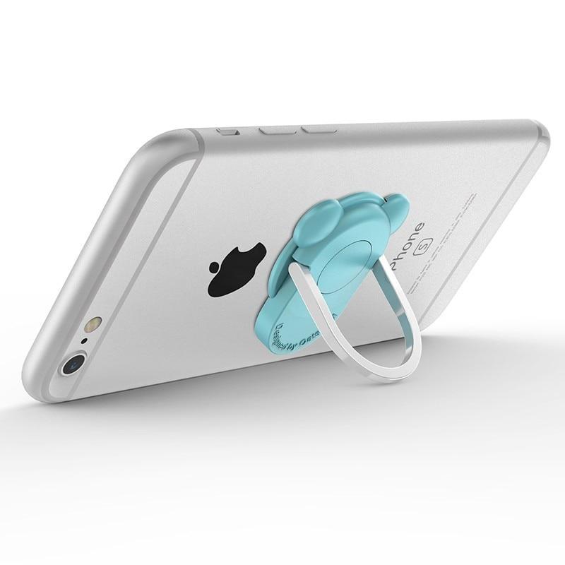 DIYIE 360 סיבוב טבעת מתכת נייד מחזיק טלפון אוניברסלי הר האצבע אחיזה עבור סמסונג גלקסי S7-iPhone 6 6 Plus לעמוד