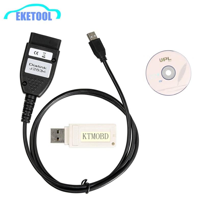 KTMOBD ECU Programmatore KTM OBD Cambio Spina di Alimentazione Con Il Nuovo DiaLink J2534 via OBD Più Il Dongle USB di Trasporto Libero del DHL