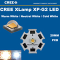 10PCS Cree XPG2 XP-G2 1-5W LED Emitter Cold White 6000-6500K with 20mm Star PCB for Flashlight/spotlight/Bulb Freeshipping!