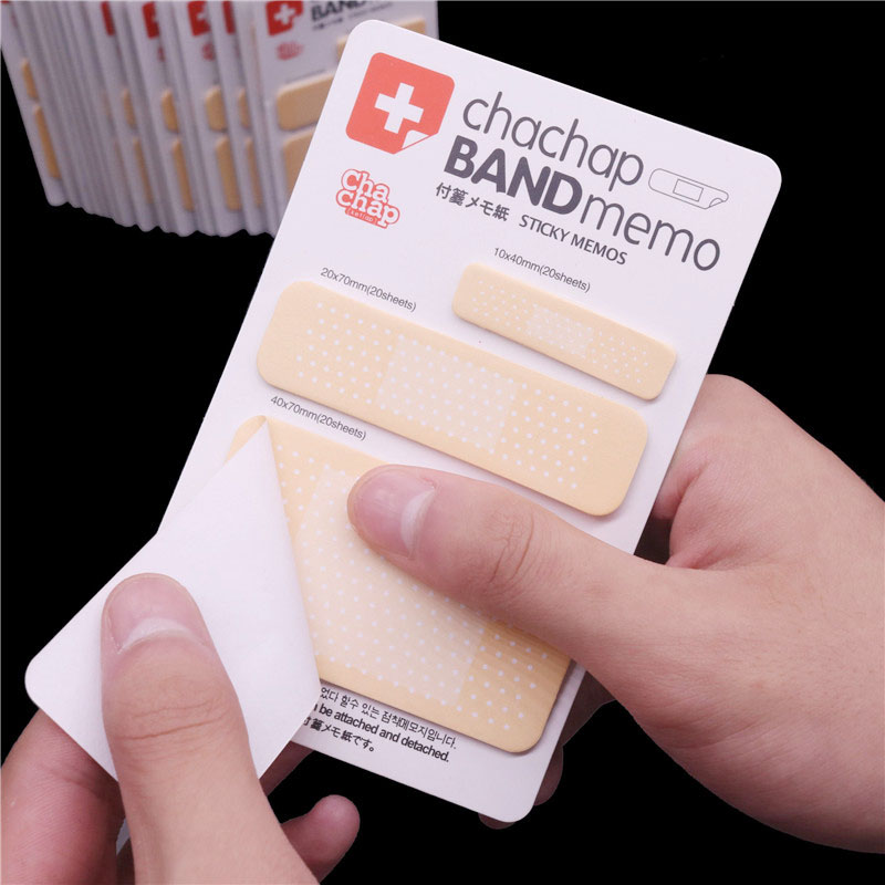 20 Pcs Can Be Posted Sticky Notes Chachap Band Memo Message N Times Posted Student Stationery Wholesale