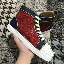 ab72ca793f2 2018 Chentel Noble Spring New Leather Suede Crystal Rivet Leisure Shoes  Walking Sneaker Outdoor Fashion Shoes