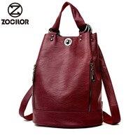 2019 Female backpack mochila feminina casual Multifunction Women Leather Backpack Female Shoulder Bag Sac A Dos Travel Back Pack