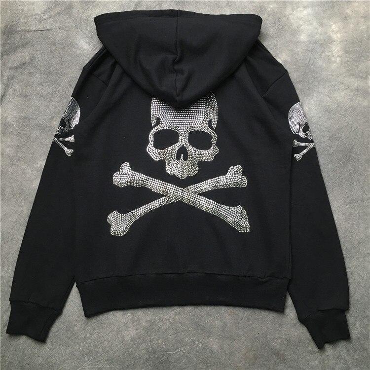 2018 nouveau haute qualité Mastermind japon squelette impression Zippe pull à capuche hip hop hommes femmes MMJ mode pulls décontractés