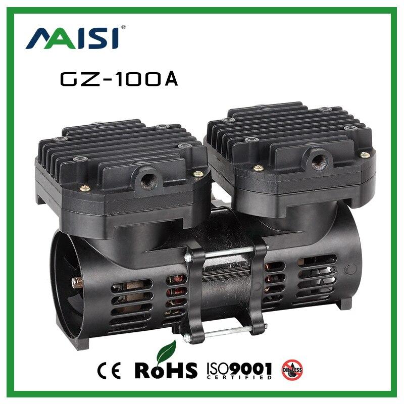 GZ 100A 110V 220V AC 70L MIN 100 W Oil Free Diaphragm Vacuum Pump