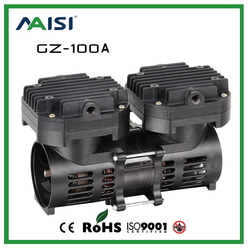 (GZ 100A) 110 В/220 В (AC) 70L/мин 100 Вт Безмасляные мембранные вакуумный насос