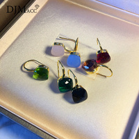 DJMACC Classic Water Droplets Style Earrings 16 Kinds Of Color Real Crystal Drop Earring For Women
