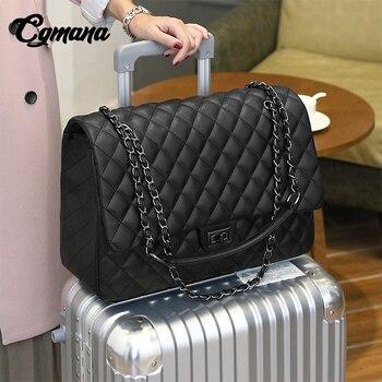 CGmana большой Ёмкость сумка 2018 большая сумка Для женщин Дорожные сумки Кожа Pu стеганая сумка женский роскошный Сумки Bolsa Feminina