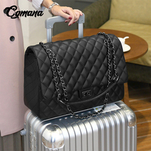 Купить с кэшбэком CGmana Large Capacity Bag 2018 Large Shoulder Bag Women Travel Bags Leather Pu Quilted Bag Female Luxury Handbags Bolsa Feminina