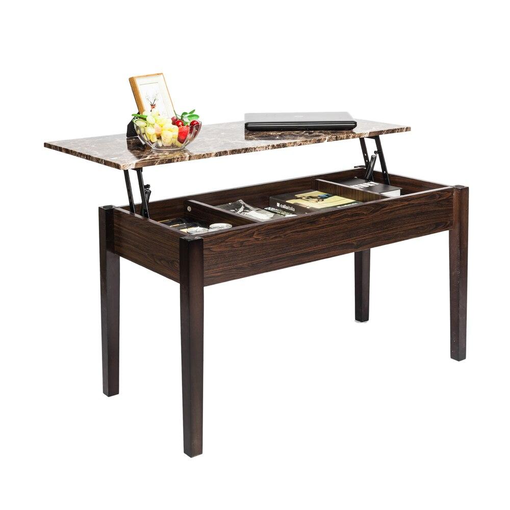 Liftable Coffee Table Modern Functional Tea Table Hidden Compartment - Liftable table